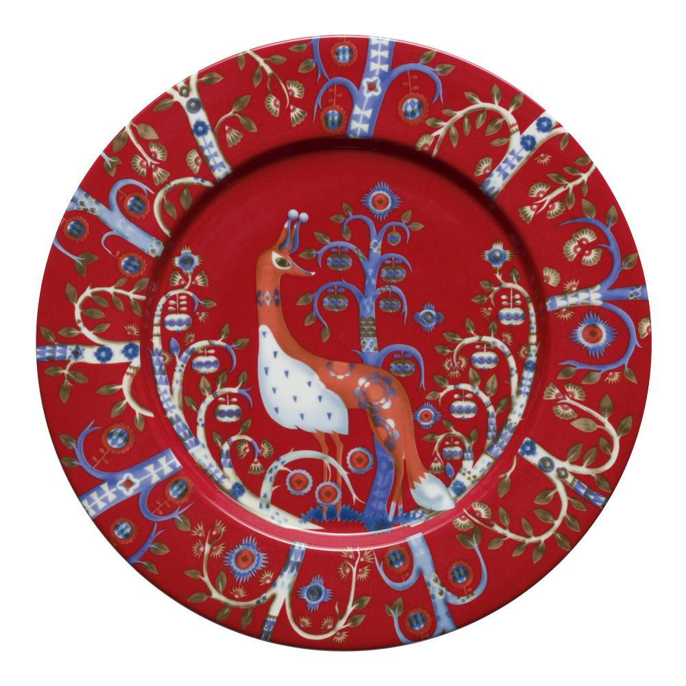 Taika Tallrik flat 22 cm Röd