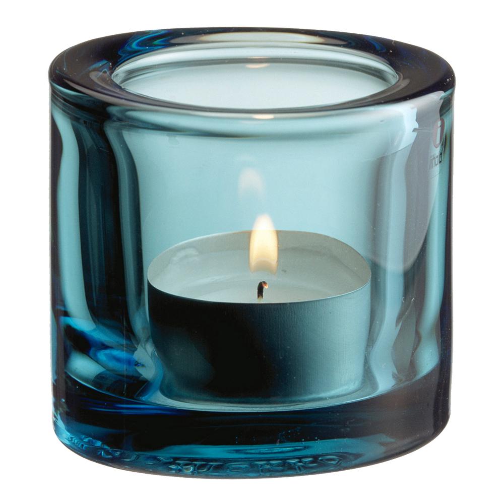Kivi Ljuslykta 6 cm Havsblå