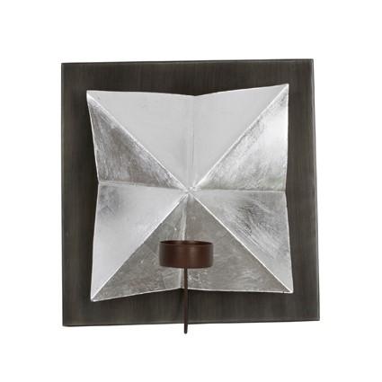 Garbo Väggljushållare 20x11cm Silver/Zink