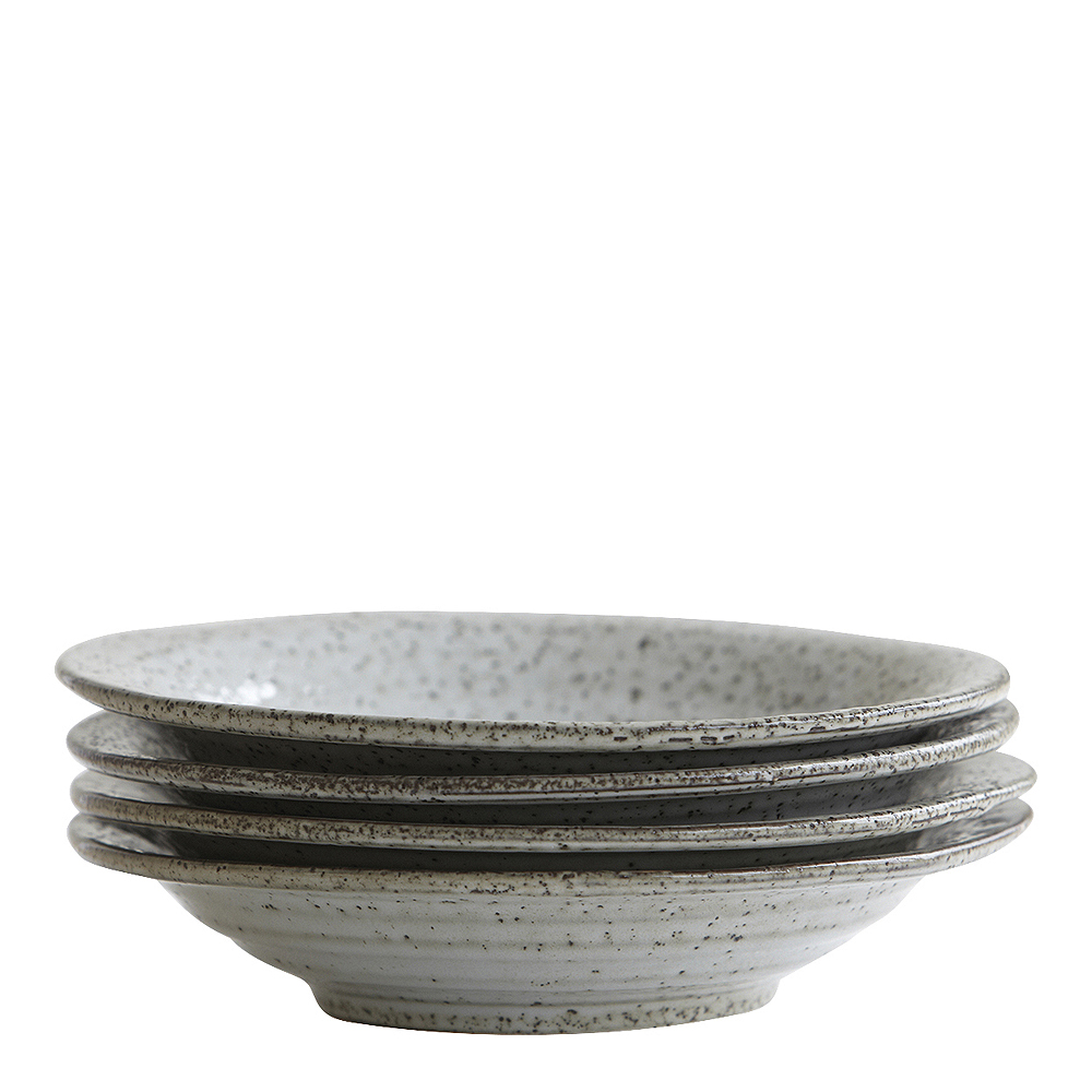Rustic Tallrik djup Grå/Blå 25 cm