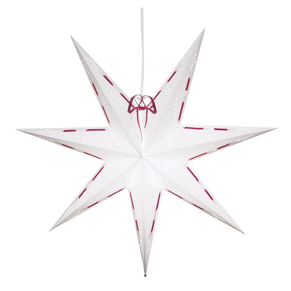 Vira Julstjärna 60 cm Vit/Röd