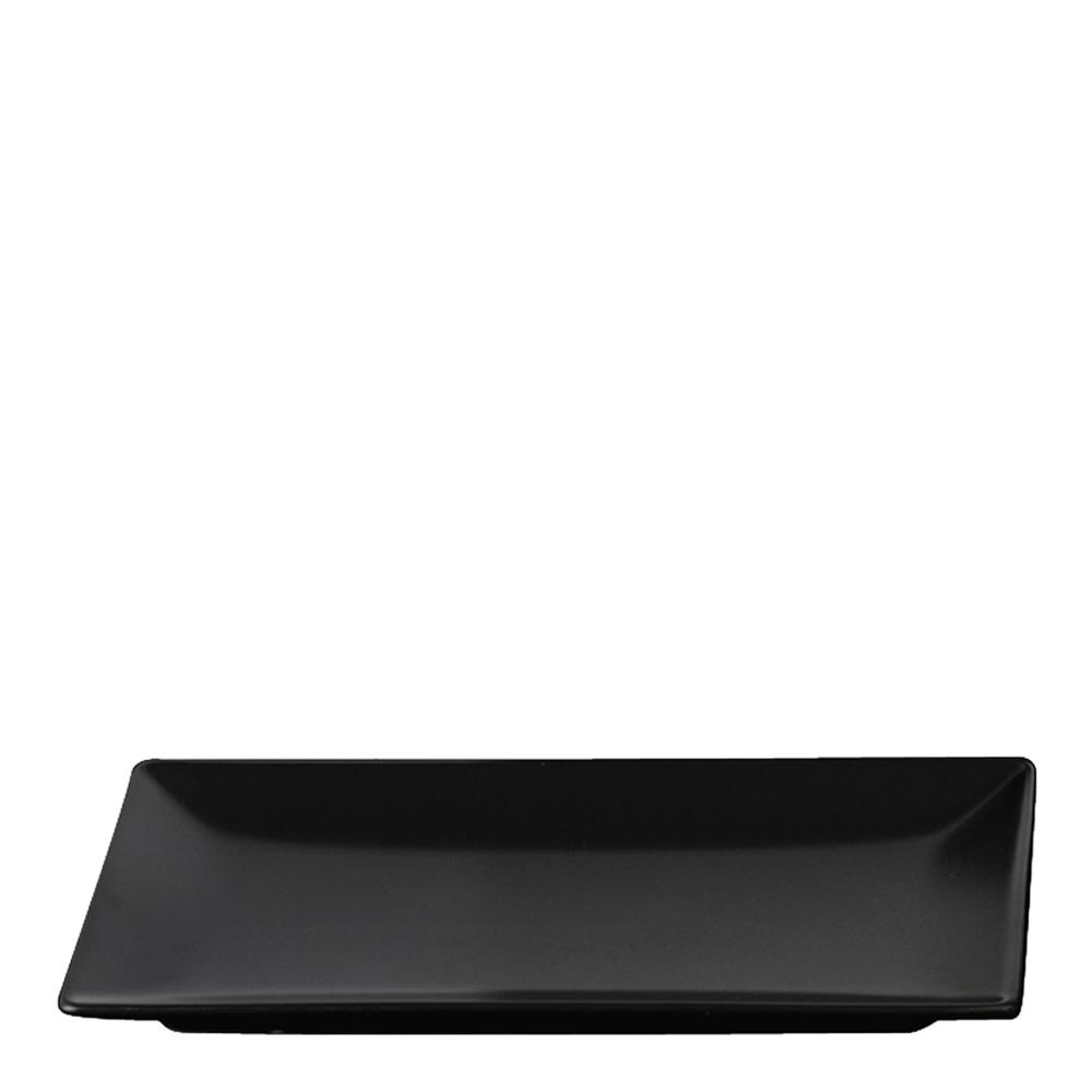 Aida Quadro Tallerken flat 30x20 cm Svart matt