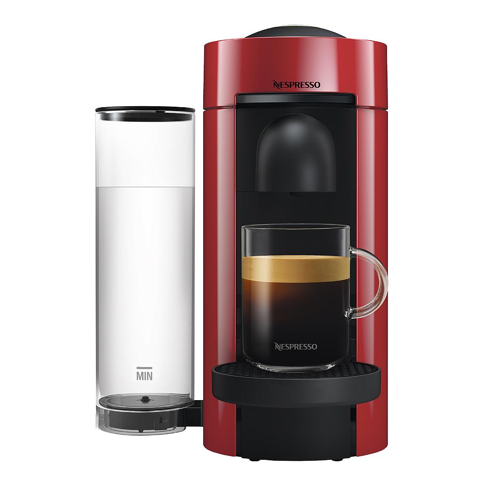 VertuoPlus Flat Top Kaffemaskin Cherry Red
