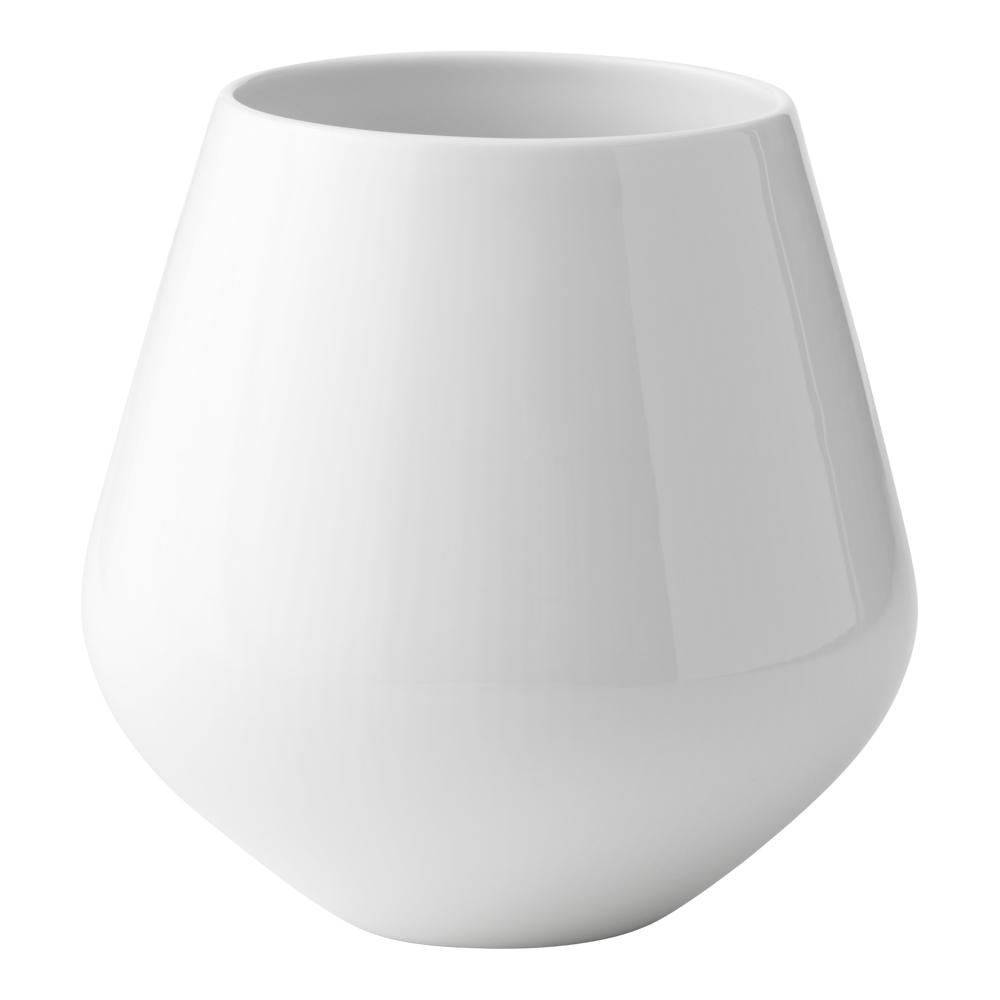 White Fluted Vas 20,5 cm
