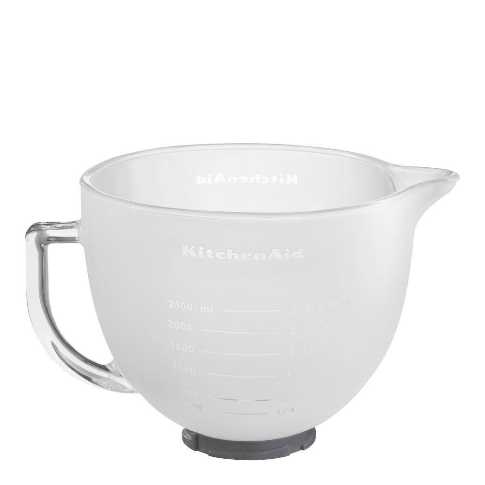 Glas-skål Frostad vit