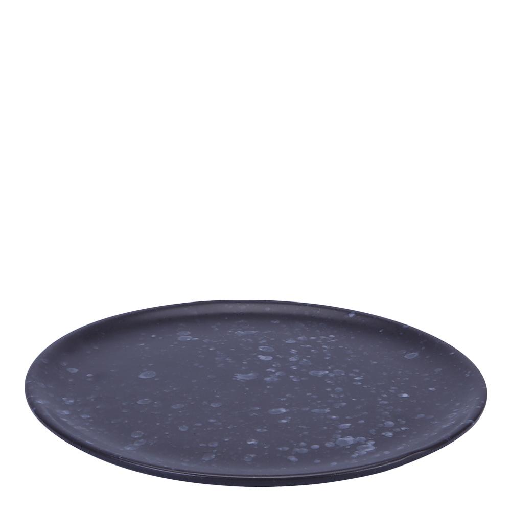 Raw Tallrik 20 cm Spotted Black