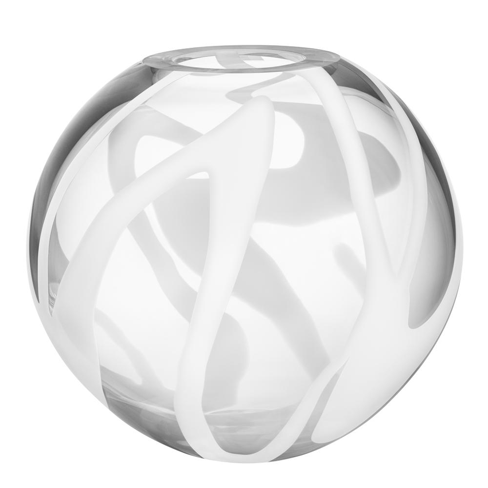 Globe Vas 24 cm klot Vit