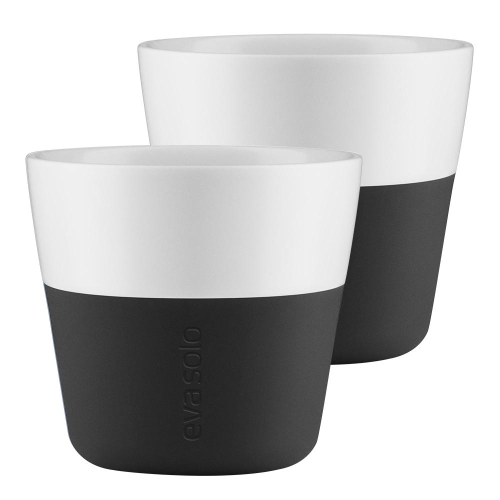 Lungomugg 2-pack Carbon svart