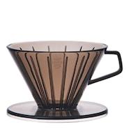 Slow Coffee Filterhållare 2 koppar plast