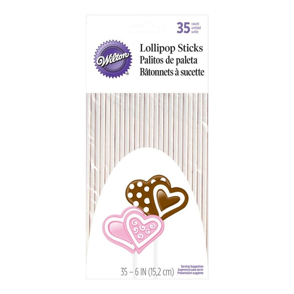 Lollipop pinnar långa 35-pack