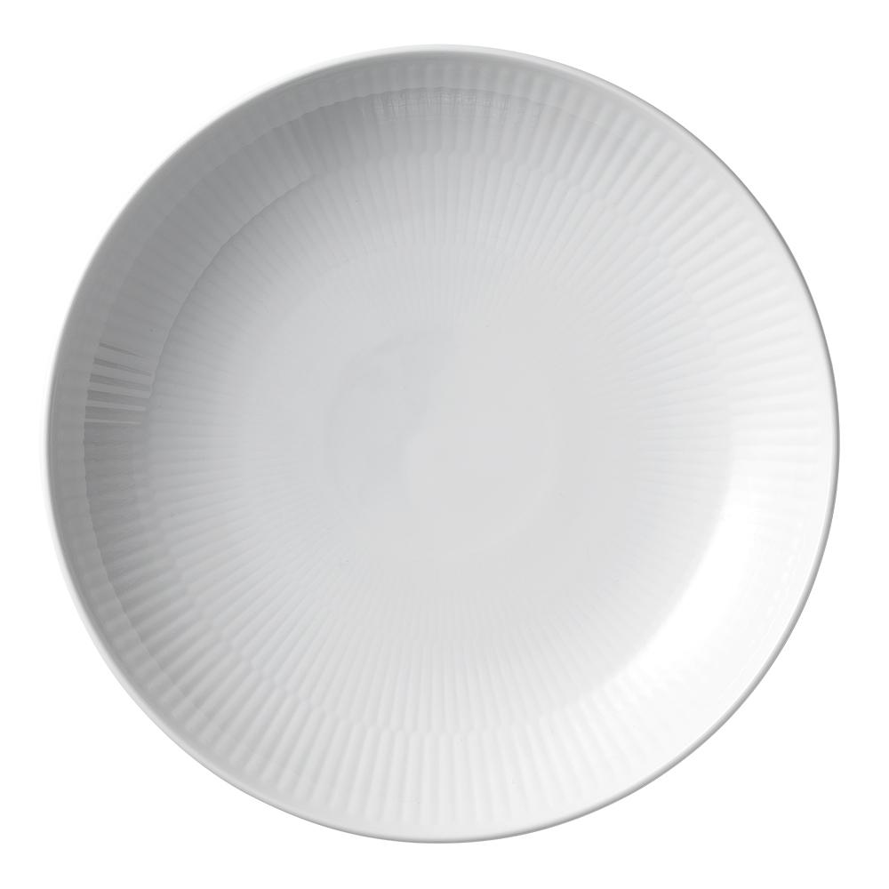 White Fluted Tallrik flat 20 cm