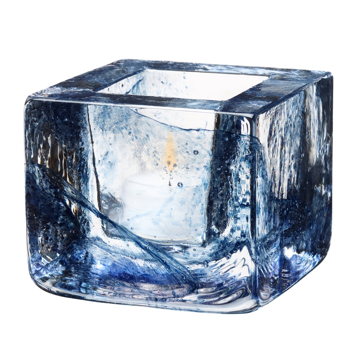 Brick Ljuslykta h75cm Blå