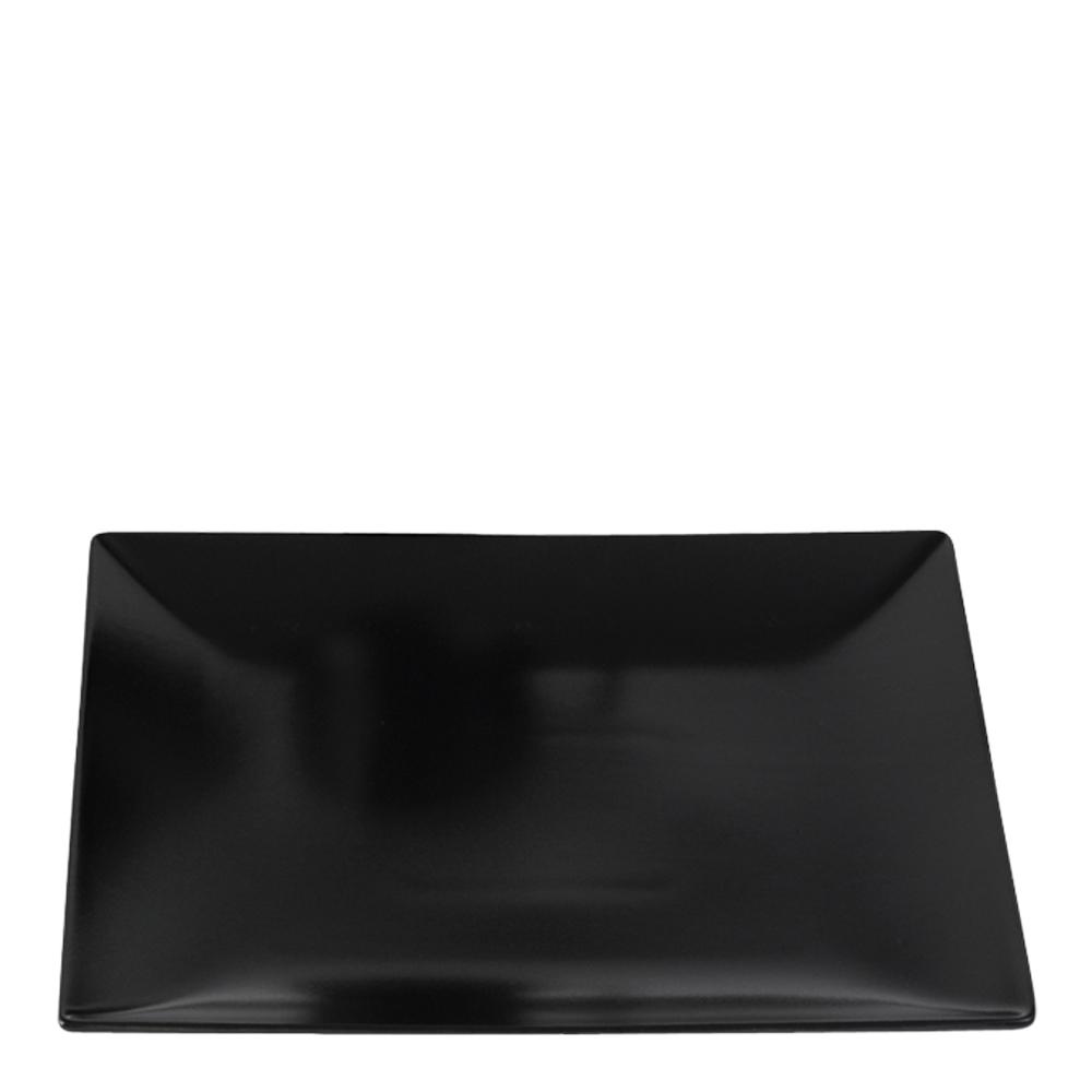 Quadro Tallrik flat 21x21 cm Svart matt