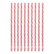 Sugrör 23 cm Röd 10-pack