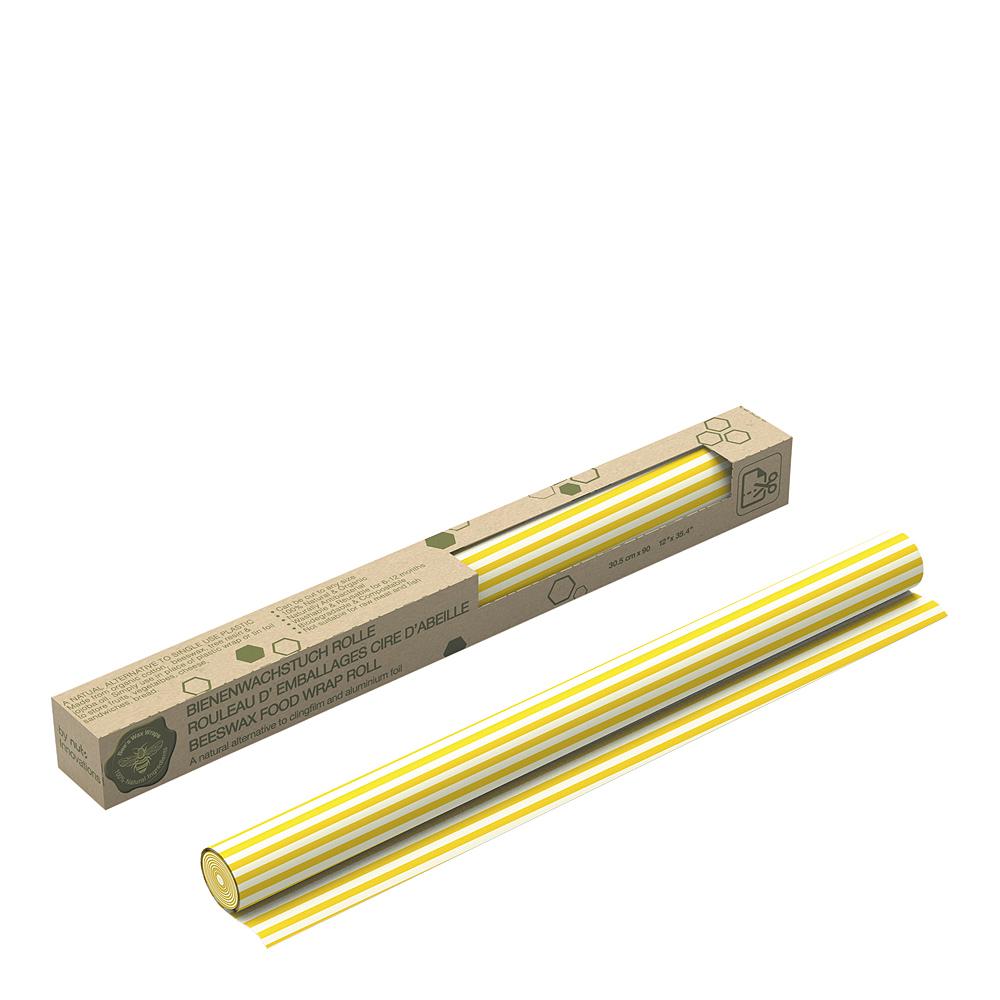Bivaxduk Rulle Ränder 30×90 cm Gul
