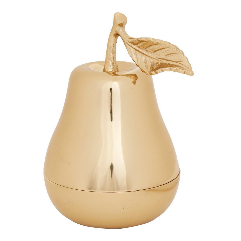 Adele Ask päron 15x15x18 cm Guldfärgad aluminium