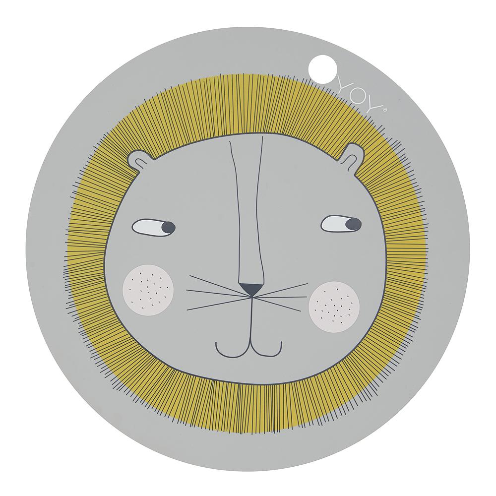 Tablett Mini 39 cm Lejon Ljusgrå