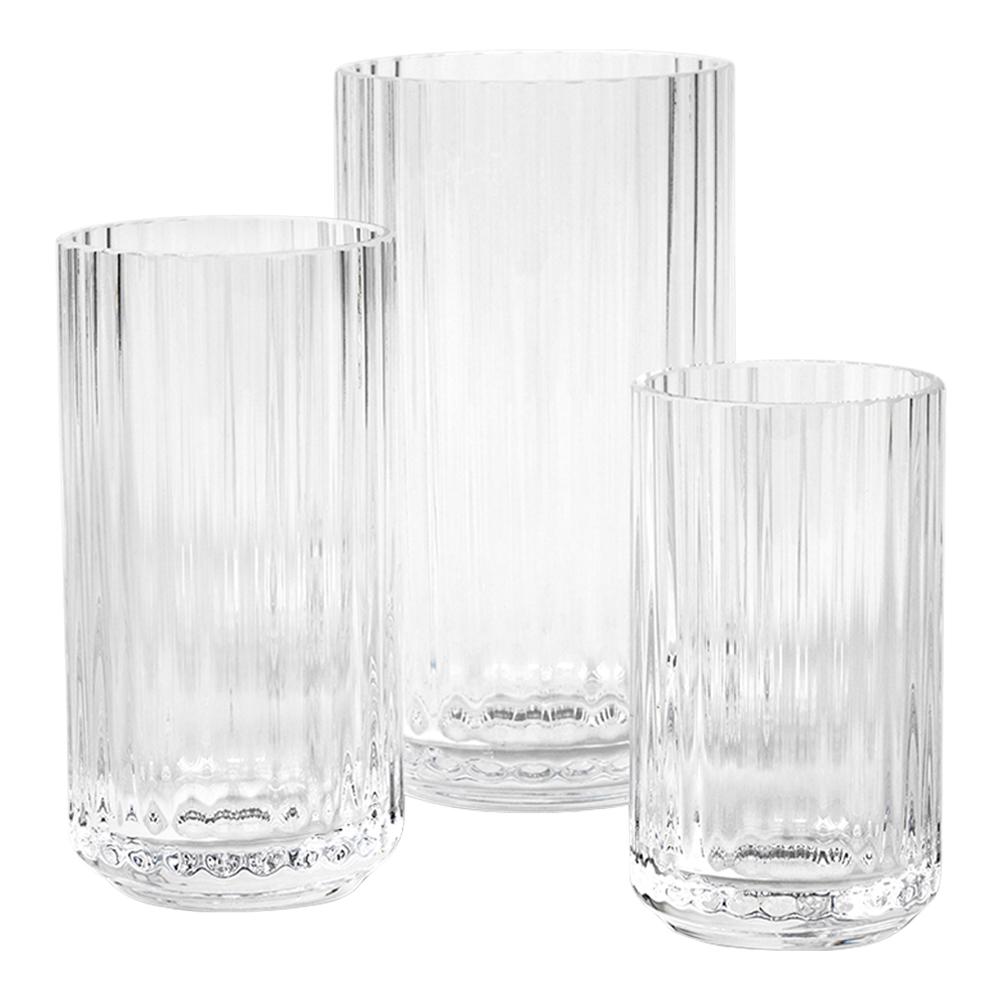 Lyngby Vasset 3 delar Klar glas