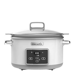 Dura-Ceramic Slowcooker 5 L Vit Induktion