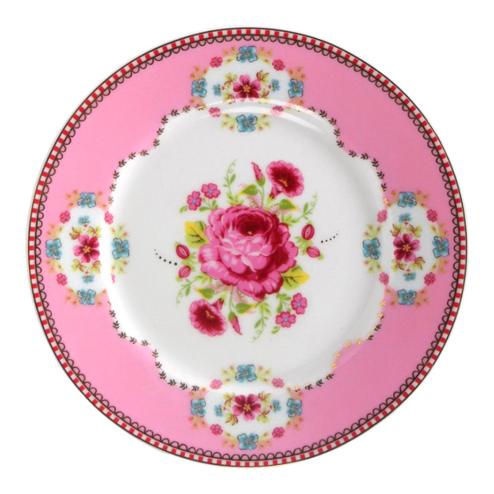 Floral Tallrik 17 cm Rosa