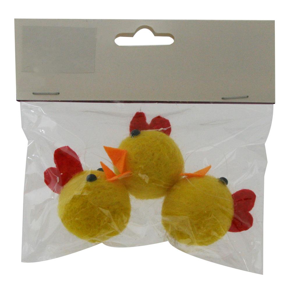 Påsk Hedlund Kyckling 4 cm Gul 3-pack
