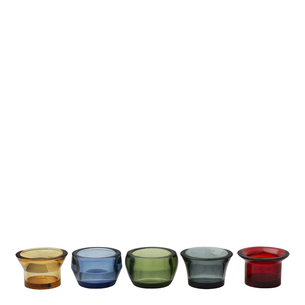 Kin Ljuslykta glas 5-pack Blandade färger