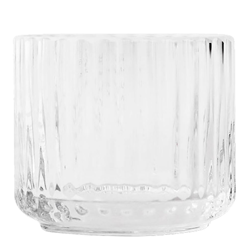 Lyngby Ljuslykta liten glas Klar