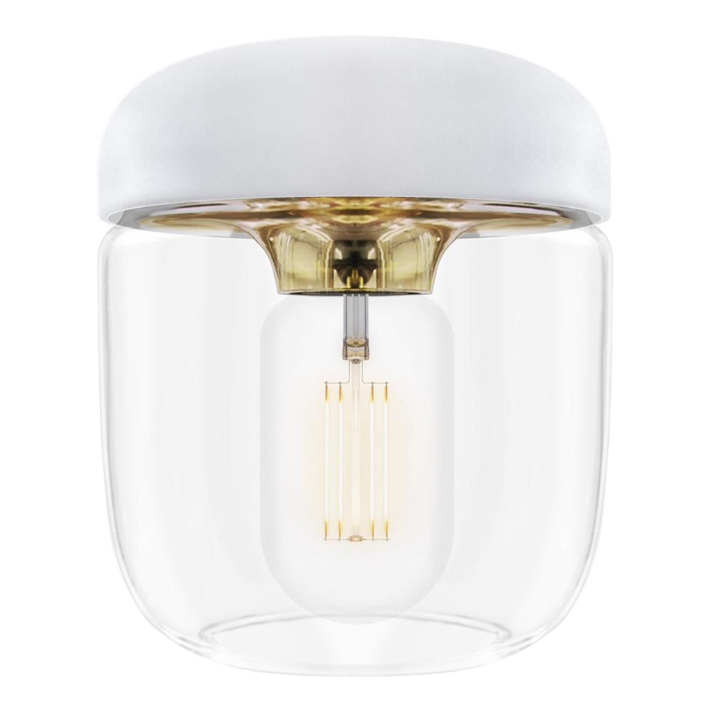 Acorn Lampskärm 14 cm Vit/Mässing