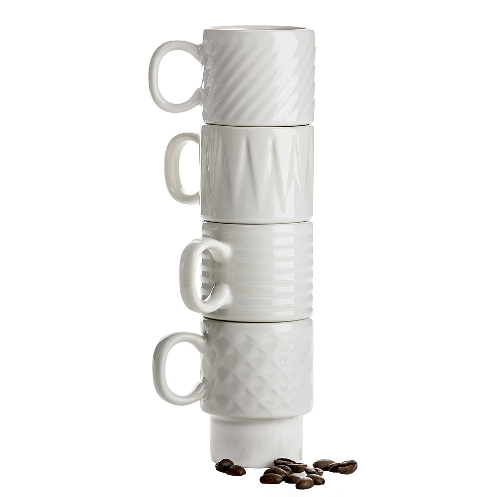 Coffee & More Espressokopp 10 cl 4-pack Vit