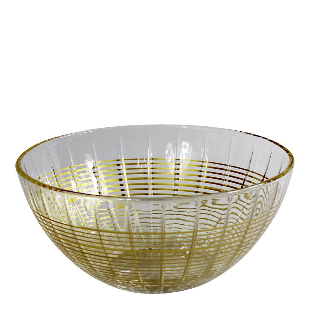 Facett Skål 20cm Guld