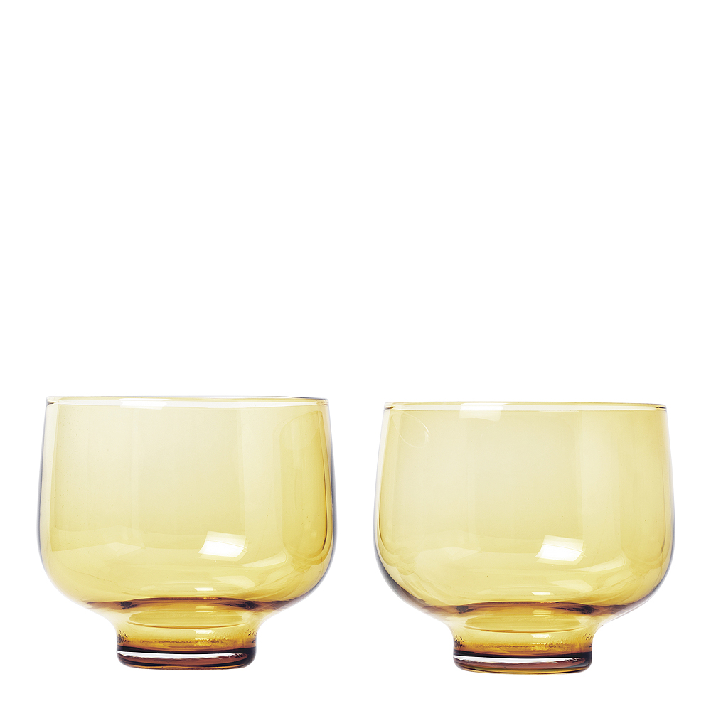 Flow Tumblerglas 22 cl 2-pack Dull Gold