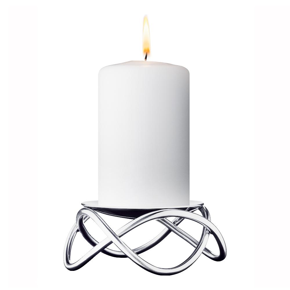 Glow Ljusstake Rostfri blank 10 cm