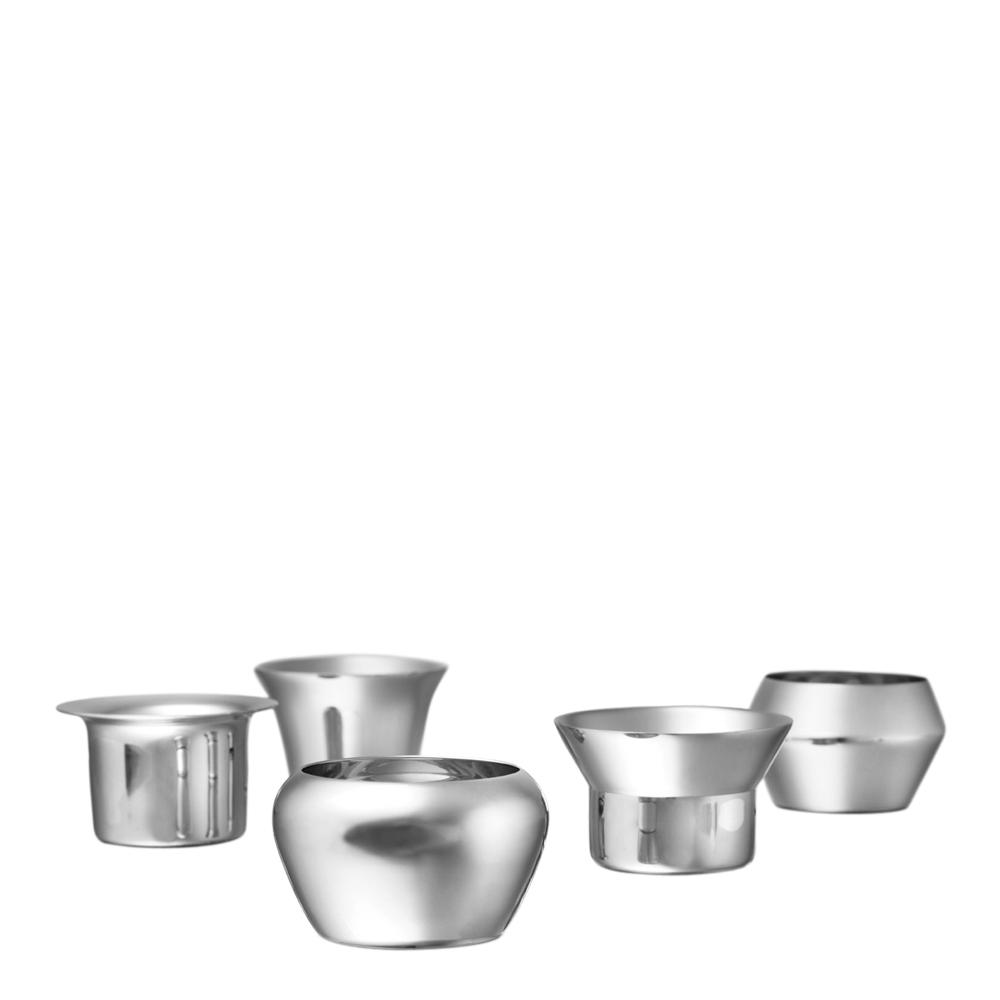 Kin Ljuslykta Silver 5-pack