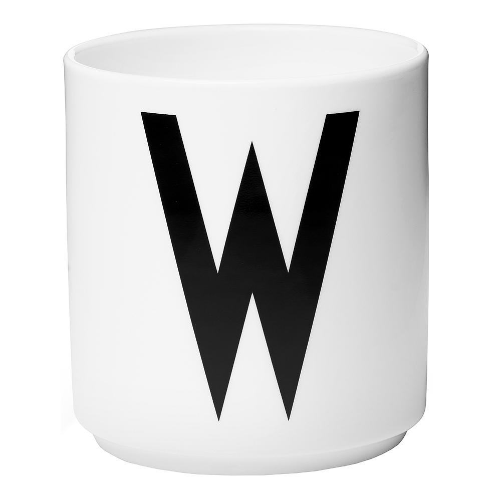 Design Letters Mugg W Vit
