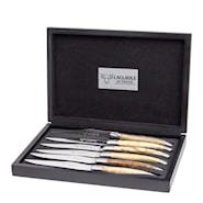 Stekkniv mix Europeisk träslag 6-pack