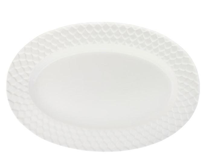 Harmony Serveringsfat oval Vit 40 cm Vit