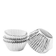 Muffinsform mini i folie 75-pack Silver