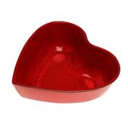 Hjärtskål 25 cm Röd