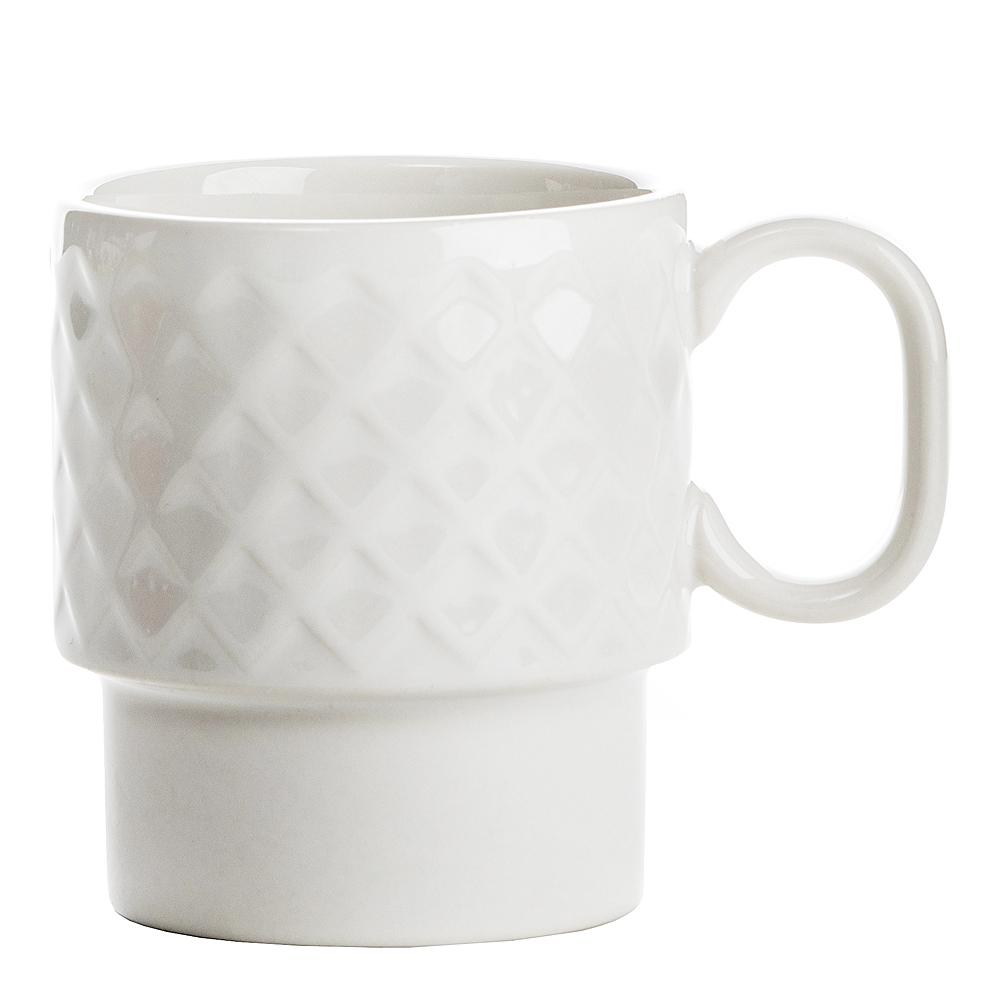 Coffee & More Kaffemugg Vit 25 cl