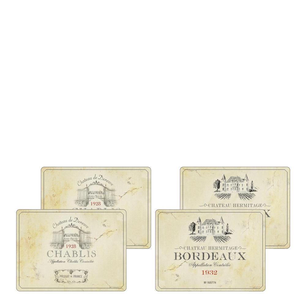 Vin de France Bordstablett 4-pack