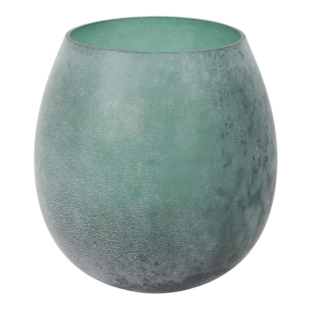 Lone Ljushållare 11,5x11,5 cm Grön glas
