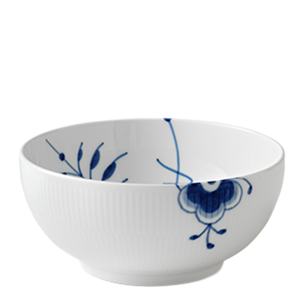 Blue Fluted Mega Skål 18 L 21 cm