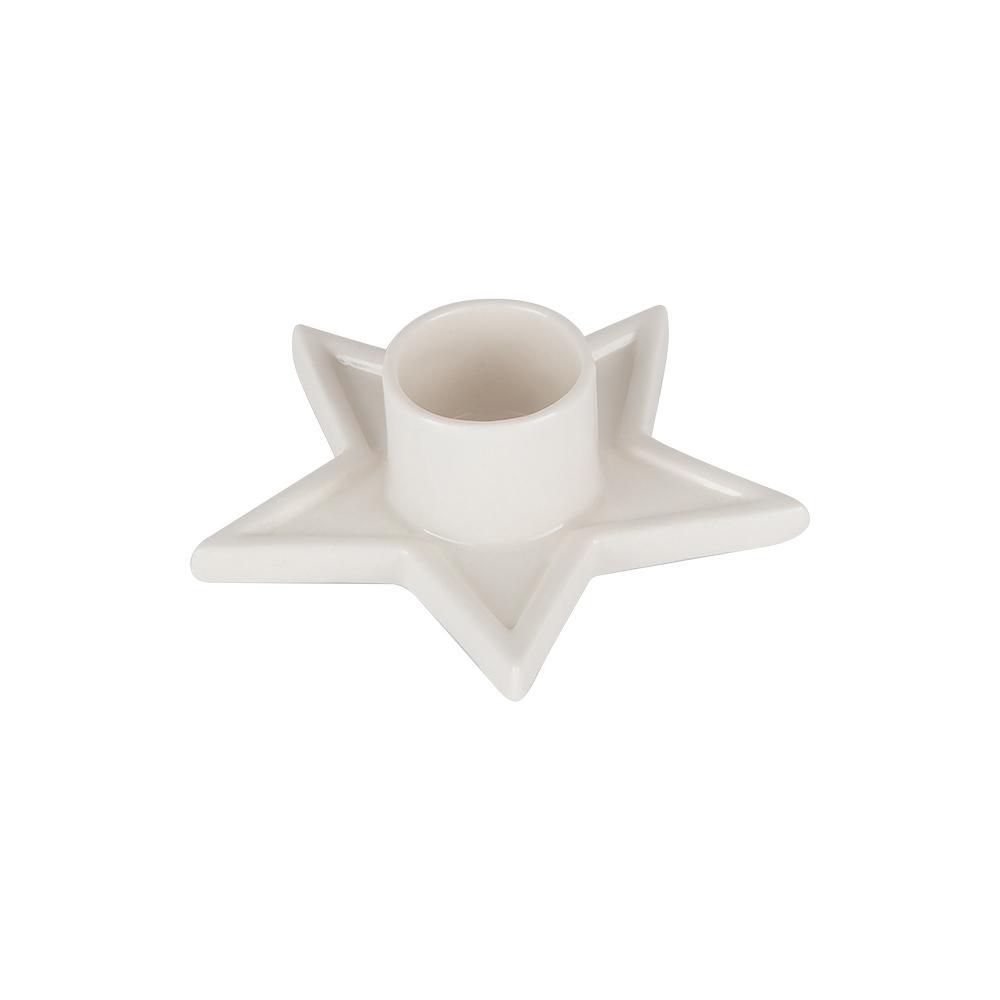 Ljushållare Stjärna Porslin 6,6 cm Vit