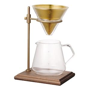 Slow Coffee Bryggset 4 koppar med ställning