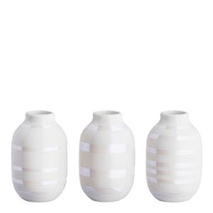 Omaggio Vas miniatyr 3-pack Pärlemor