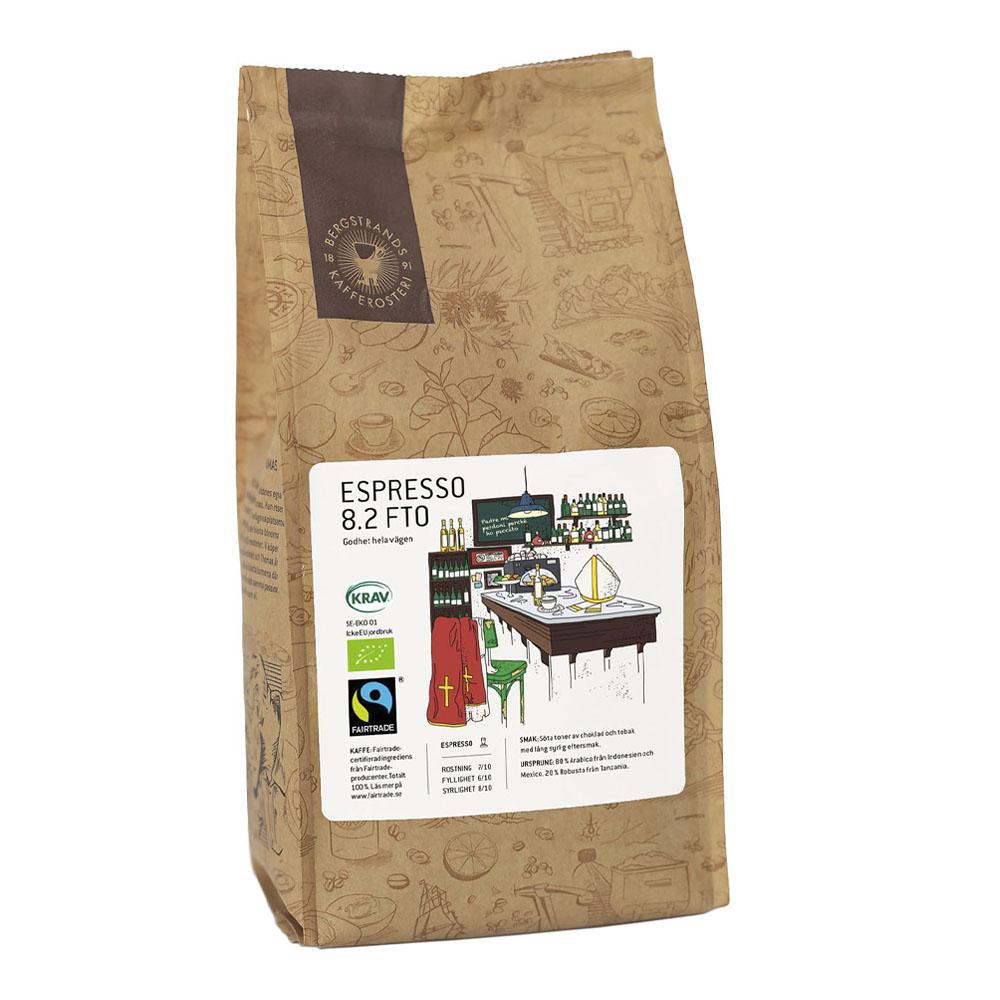 Espressobönor 8.2 Fairtrade Eko 1 kg