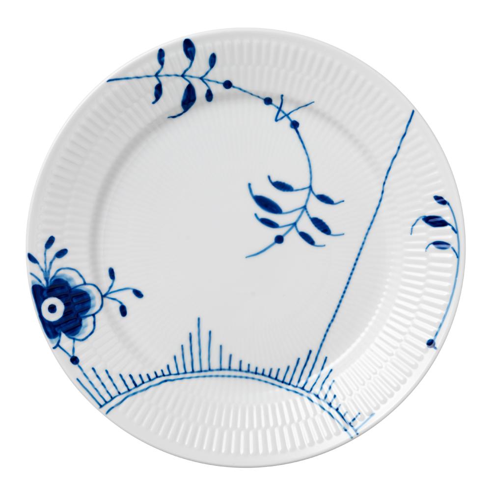 Mega Blå Tallrik flat 27 cm dekor 2