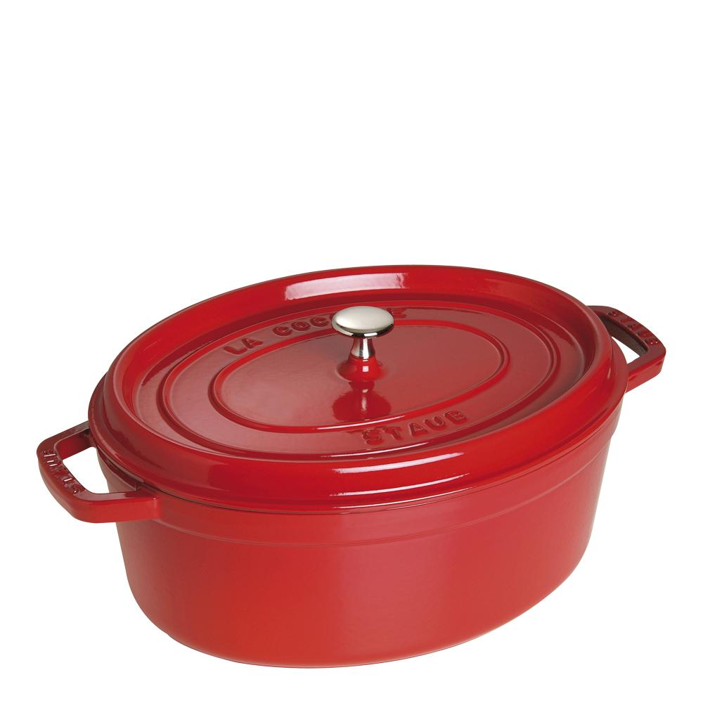 Gryta 6,7 L oval Röd