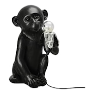 Banana Monkey Bordslampa apan 21x34 cm Svart
