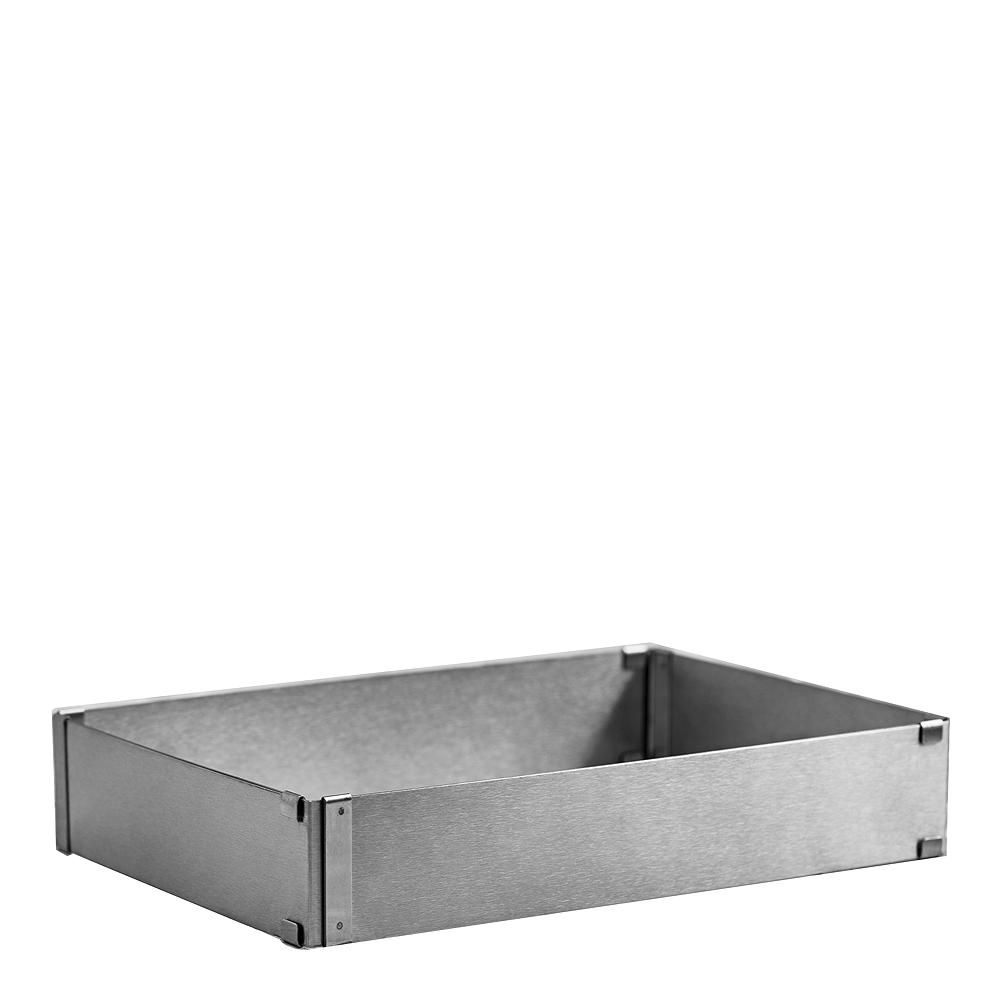 Bakform justerbar rektangulär Rostfri